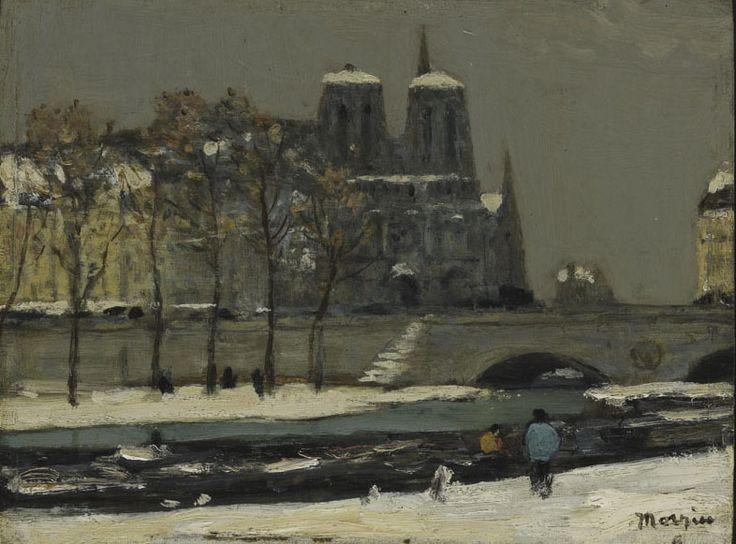 J.W. Morrice (1865 - 1924), Notre Dame, c. 1898, oil on  wood panel, 19 x 25.4 cm, Gift of Colonel R.S. McLaughlin, 1968.7.18