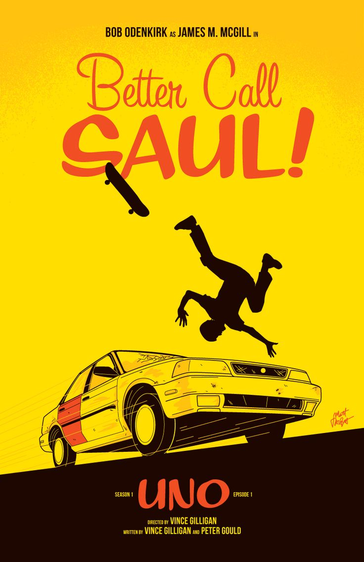 I'm totally in love with Better Call Saul from AMC! Going to attempt drawing some quick posters for each episode this season as time allows. Here's episode one, UNO.