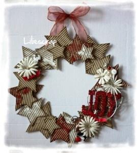 couronne etoilee en carton de recup tuto christmas pinterest wreaths craft and scrap