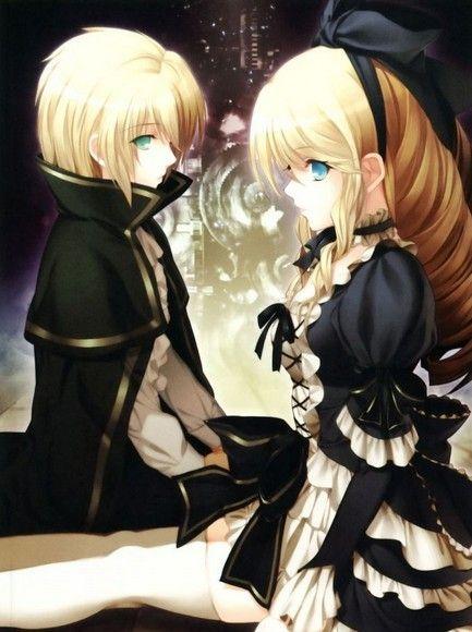 Cute anime siblings - bother & sister , boy, girl