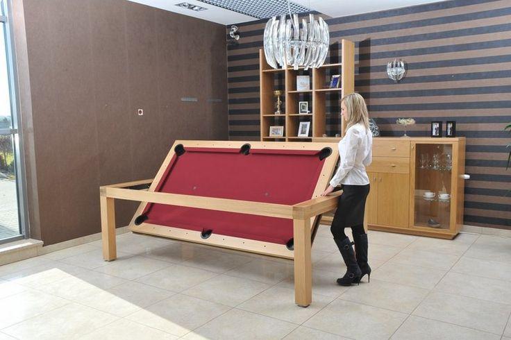 Stół bilardowy obrotowy Portland - drewniany