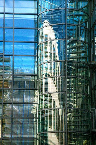 Modern architecture Helsinki. (Glass house in Helsinki)