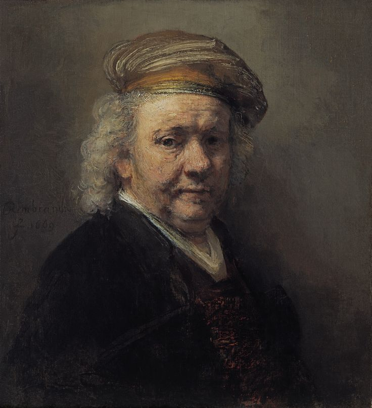 Rembrandt, Self Portrait, 1669 Oil on canvas 65.4 x 60.2 cm © Royal Picture Gallery Mauritshuis, The Hague (840)