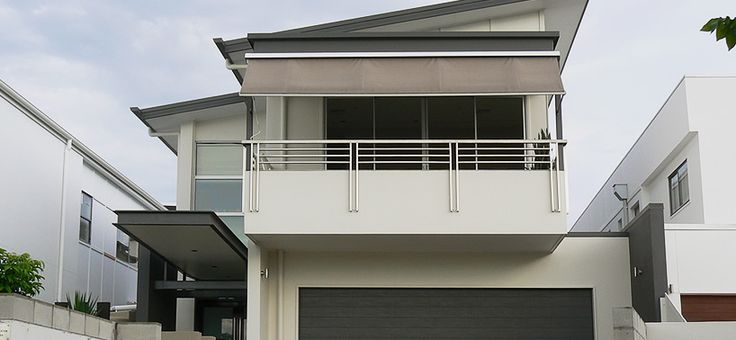 Half wall stainless steel balustrading face fixed to for Balcony steel railing designs pictures