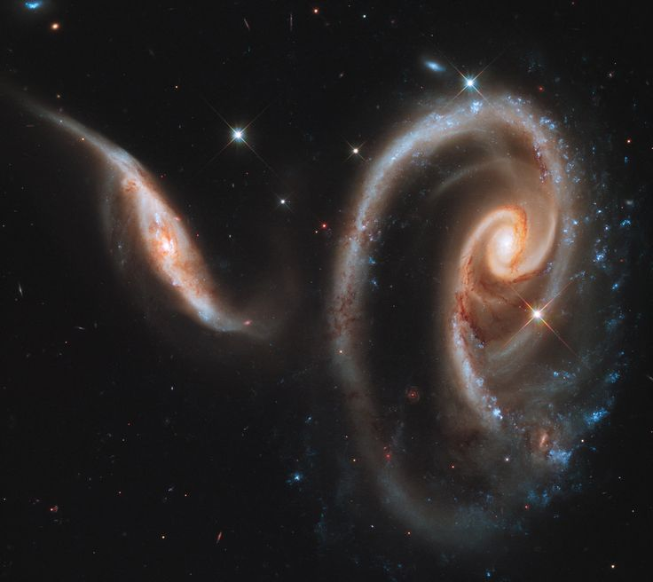 One of the spectacular photos of merging galaxies during Hubble's 25 years in Space.