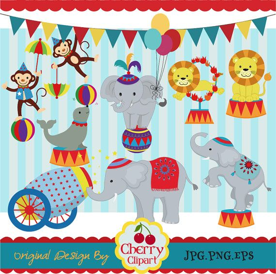 Circus Clip Art Carnival Clip Art Personal and Commercial