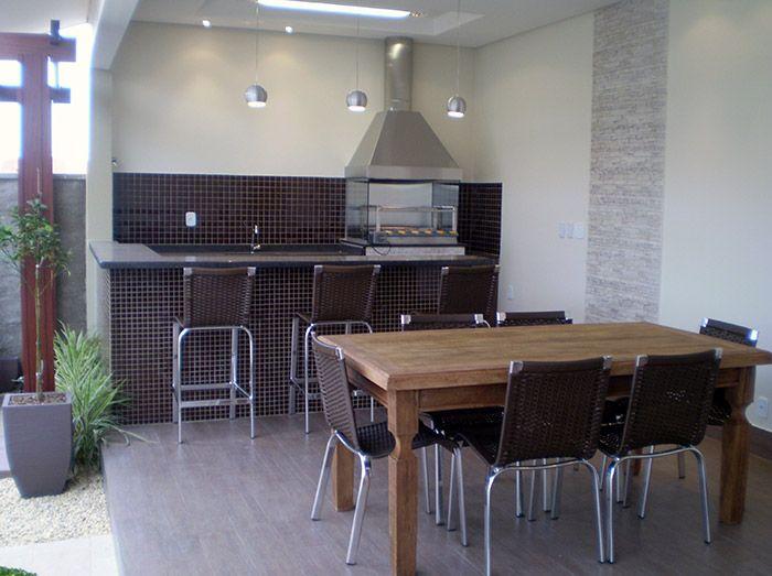 Projetos de churrasqueiras modernas - Nova tendência espaço gourmet