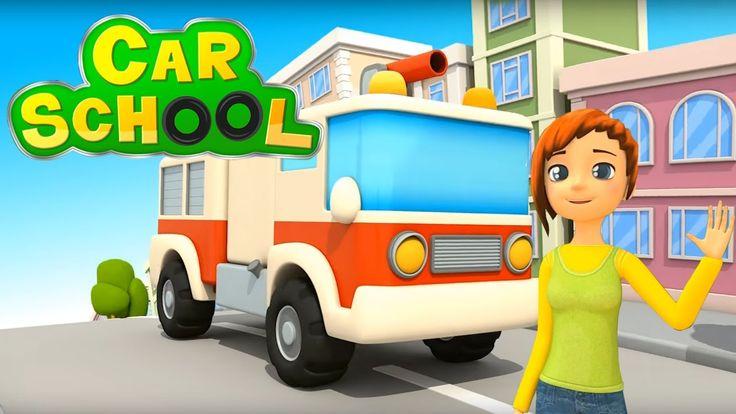 NUOVO!!! Car school  - Come si diventa un bravo camion dei pompieri? | C...