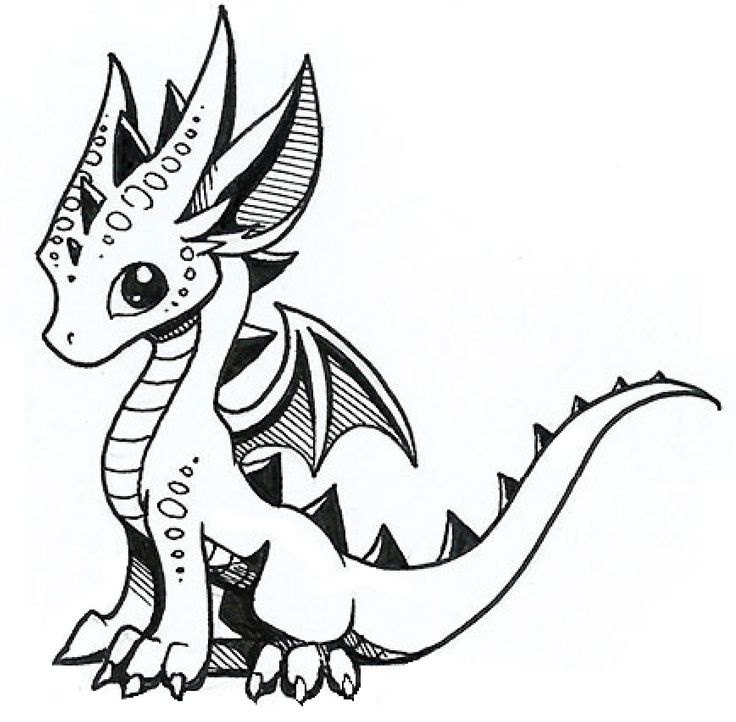 25 best ideas about dragon drawings on pinterest - Dessin dragon simple ...