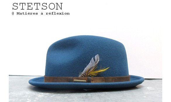 Stetson chapeau homme Hailey feutre bleu  #chapeau #hat #stetson #homme #men #hailey #wool #bleu #blue
