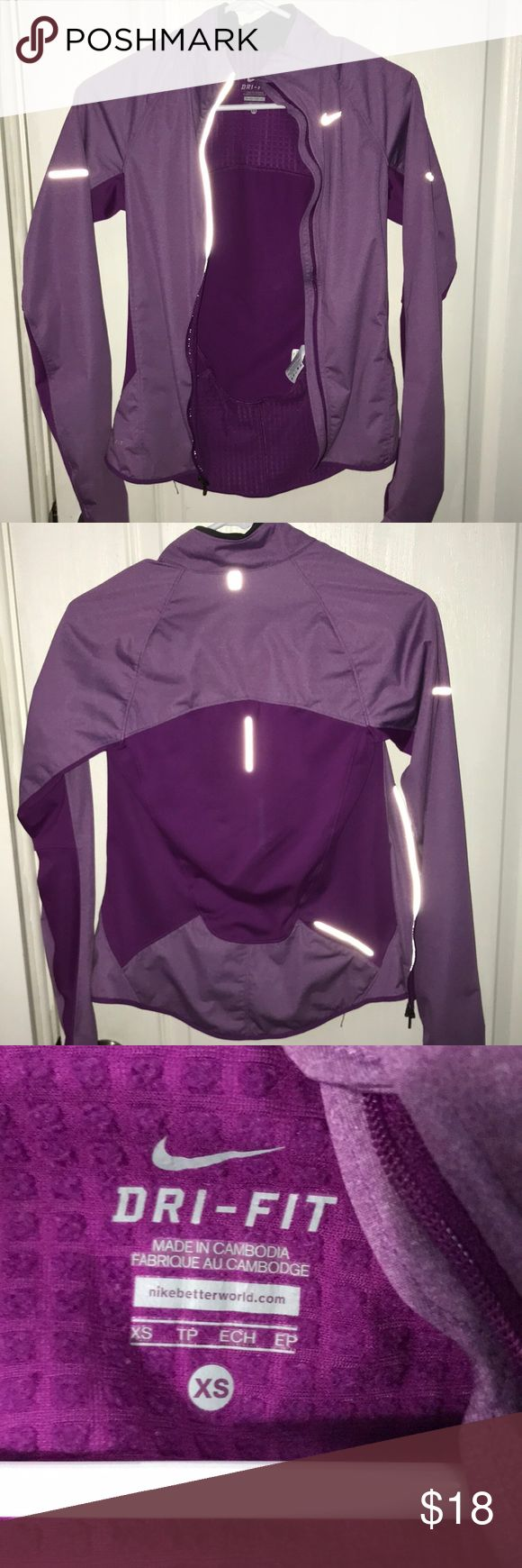 Purple Nike running jacket Great condition super comfy and warm light running coat Nike Other
