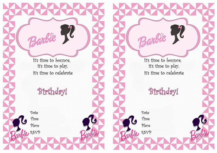 124 best Birthday Party Invitations - FREE Printables images on - free birthday template invitations