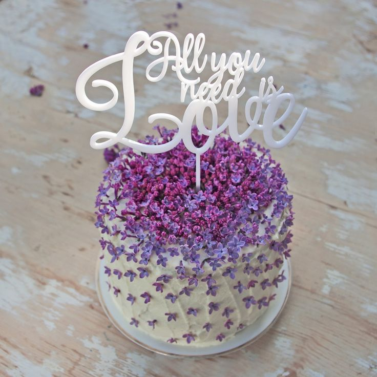 ALL YOU NEED IS LOVE zápich na dort weding cake topper
