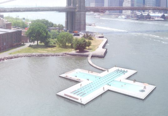 Floating pool manhattan harbour be a master masters - Sportspark swimming pool new york ny ...