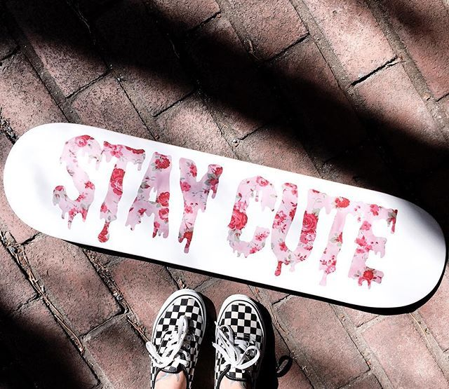 Stay Cute Skateboard Staycutexo Skateboard Cool Skateboards