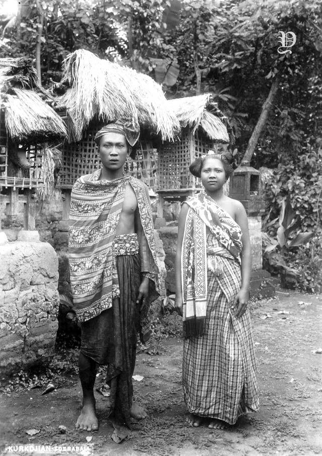 Potret sepasang pria dan wanita Bali, sekitar 1920   Foto zaman ...