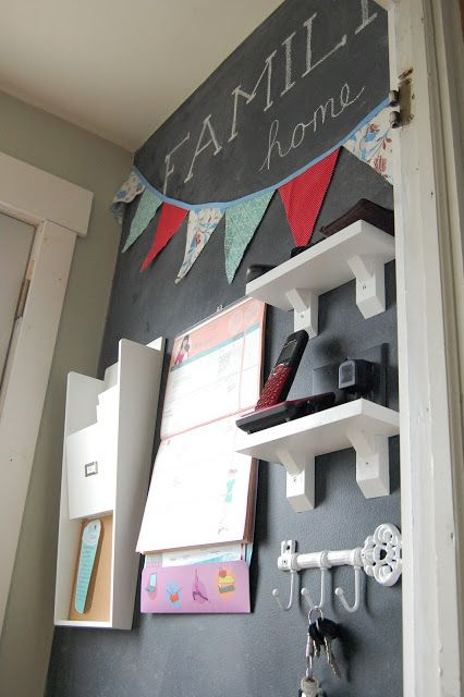 Family Command Center and Chalkboard Wall