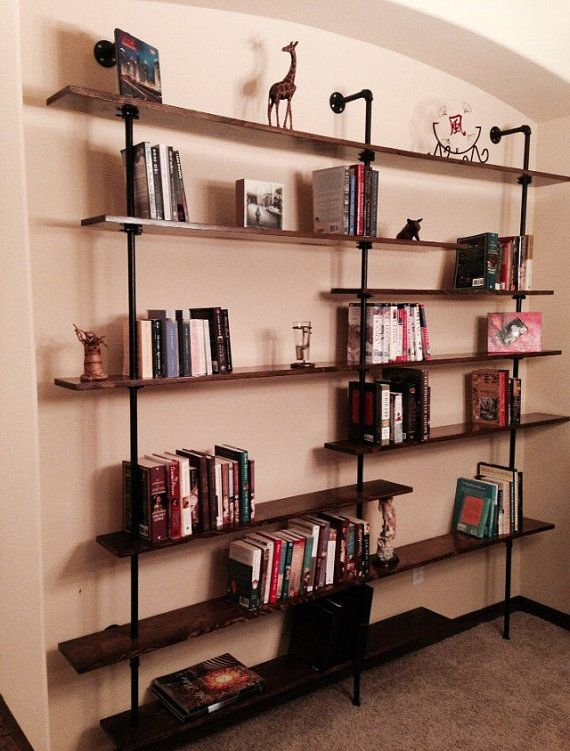 Industrial bookshelf (The Kennewick)