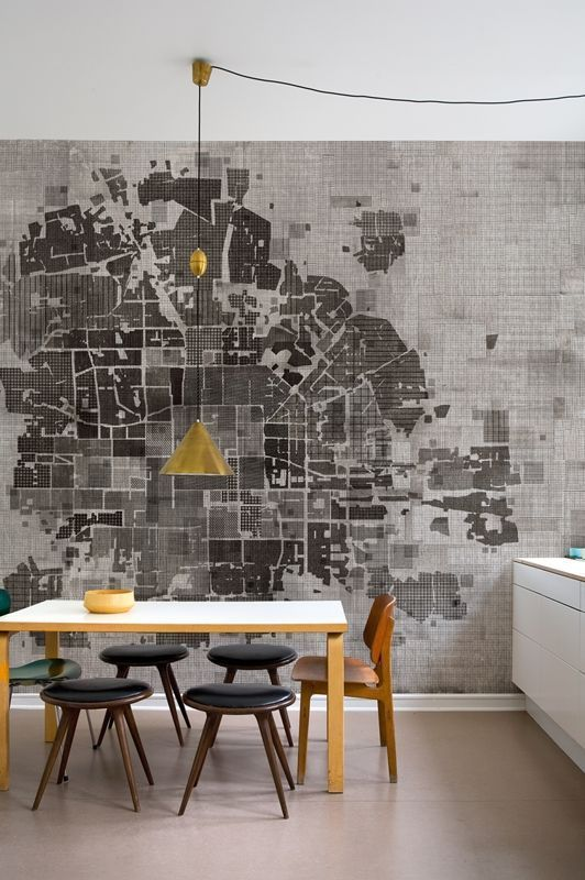 Map wallpaper by Wall and Deco.