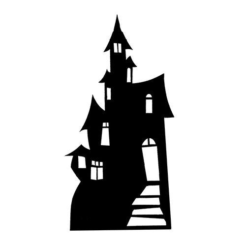 Haunted House Die Cut Vinyl Decal PV1299