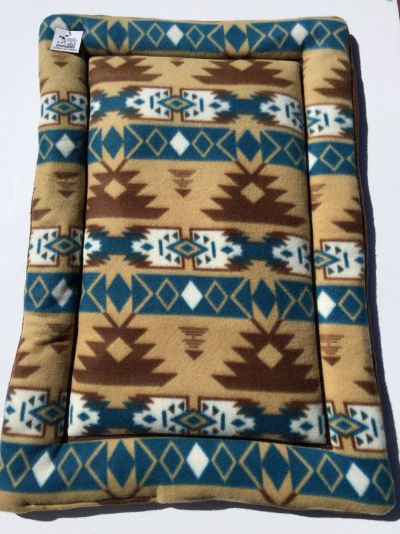 Southwestern Dog Bed, Dog Crate Pad, Cat Cushion, Western Decor, Fleece Mats, Kennel Dog Pad, Puppy Bedding, Southwestern Decor, Aztec Decor #PuppyBed #SouthwesternDogBed #FleeceMats #FleecePetBeds #KennelDogPad #DesignerPetBed #CatCushion #SouthwesternDecor #DogCratePad #PuppyBedding
