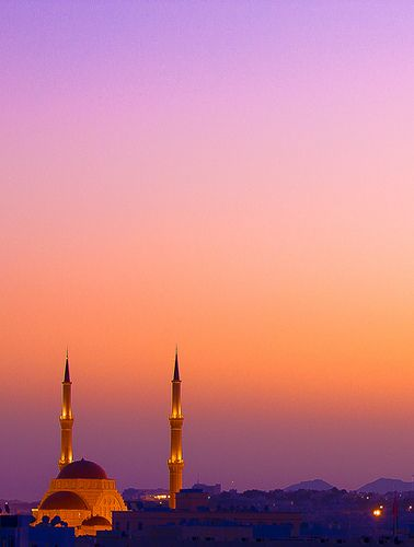 Said bin Taimur Mosque from the Rooftop, Muscat, Oman #travelnewhorizons
