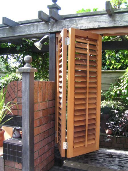 17 best images about deck ideas on pinterest fence for Privacy shutters for deck