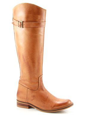 Online Shoes f3464 cognac platte laarzen