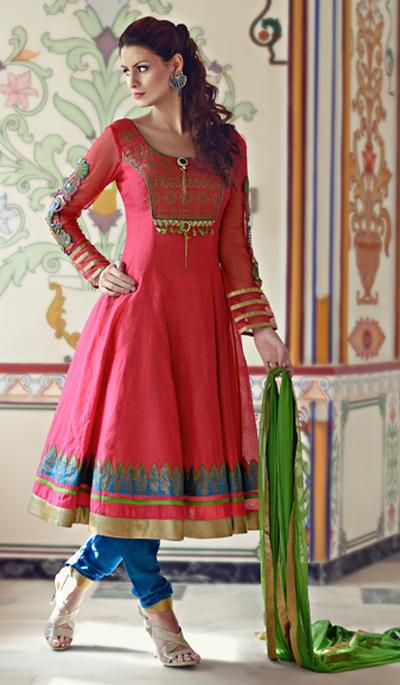 G3 Fashions Red Cotton Wedding Wear Designer Salwar Suit  Product Code : G3-LSA104329 Price : INR RS 5520