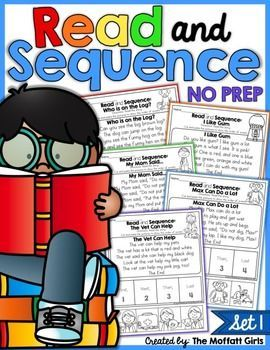 Read and Sequence NO PREP Packet (Set 1): This Read and Sequence packet is an engaging way for kids to work on comprehension, fluency and building confidence!