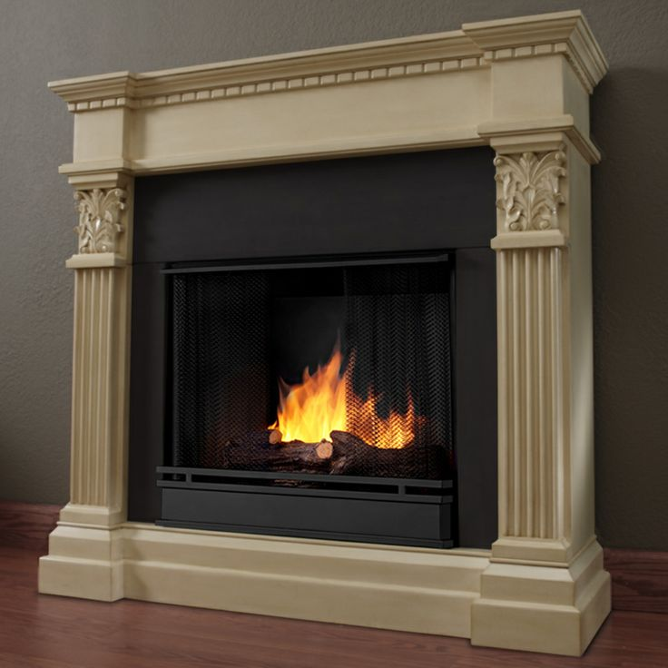 Real Flame 39 Gabrielle 39 Ant White Vent Less Gel Fireplace By Real Flame Shopping The O 39 Jays