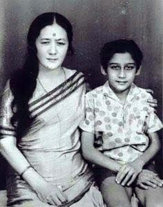 #JackieShroff with his mother. For more pics http://bit.ly/BD_RarePics