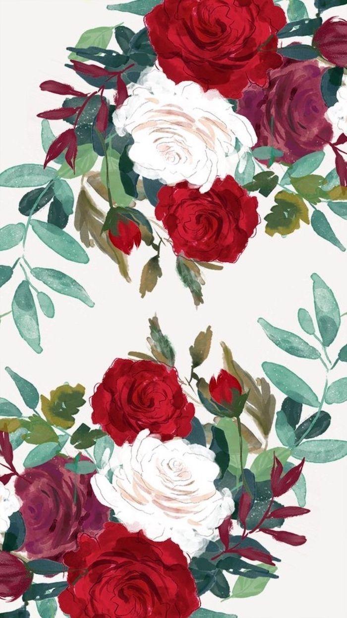 Wallpaper Cute Flower Mobile Best Hd Wallpapers Red And White Wallpaper White Flower Wallpaper Flower Mobile