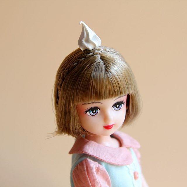 苹果妆🍎短发妹妹~😉  #リカちゃん #リカちゃんキャッスル #licca #liccacastle #liccadoll #liccafriend #パレットf #japanesedoll #dollphotography #dollstargram