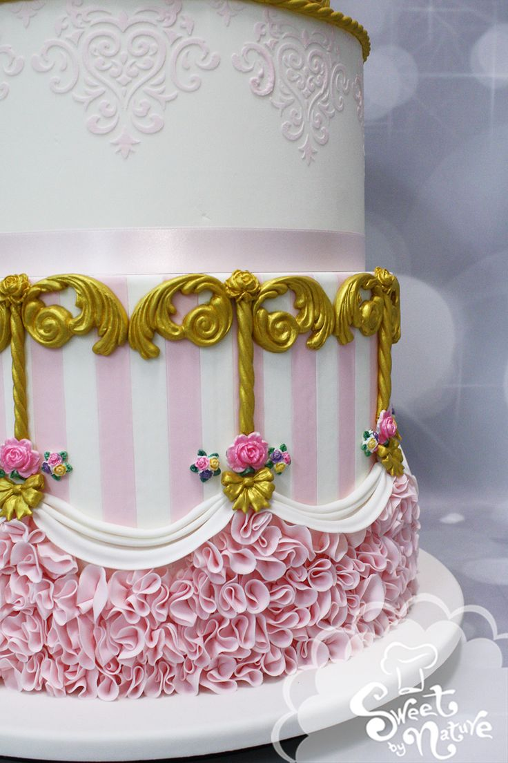 Its All In The Detailing Candy Stripes Stencil Sugar Flowers Rolled Icing Cakes For GirlsNature