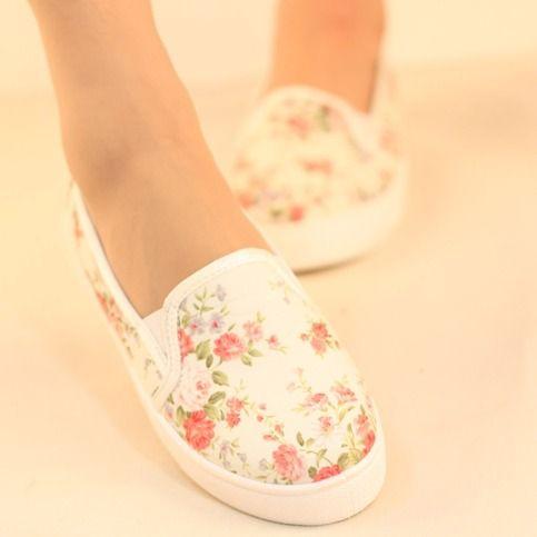 Floral Van shoes