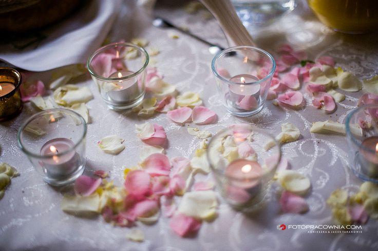 Dekoracja płatki róż