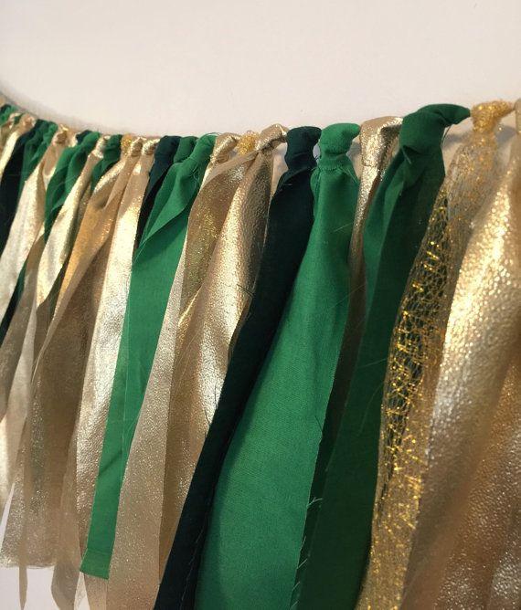 Emerald green hunter green kelly green and gold by PenelopeandLala
