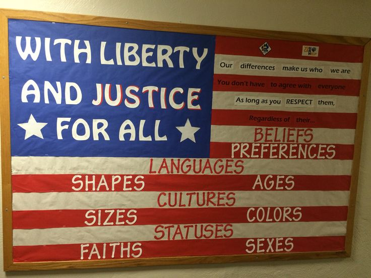 Social Justice Bulletin Board.