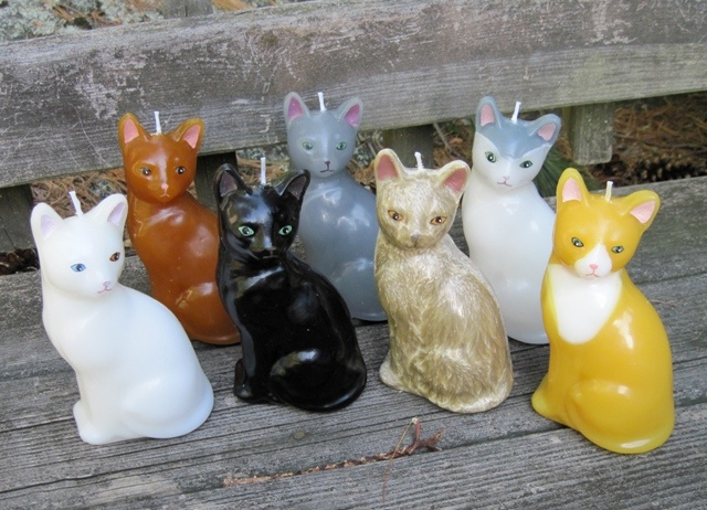 Cat Candles by Kittredge Candles