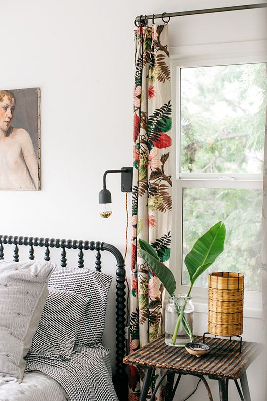 my guest room furnished with vintage items from EBTH. / sfgirlbybay…