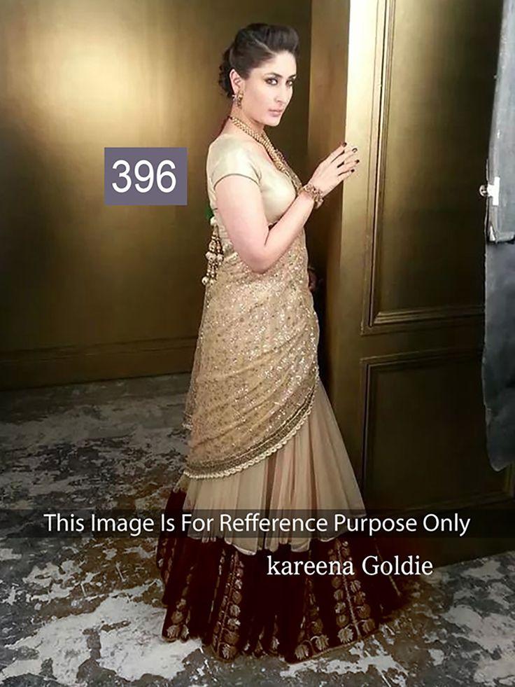 Kareena Kapoor Gold Heavy Embroidered   Indian wedding ...