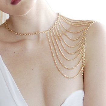 Chic Tassels Embellished Body Chain For Women