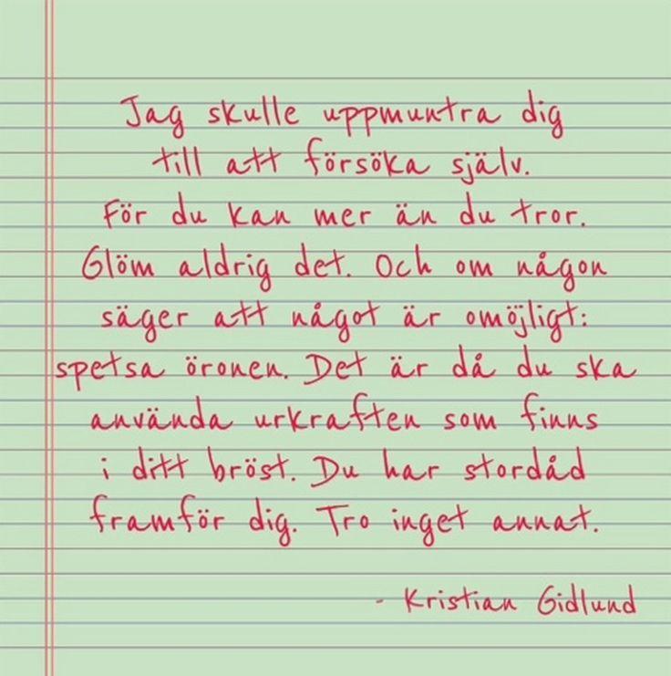 Kristian Gidlund Citat