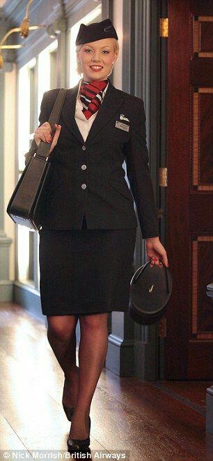 Beauty in Uniform Stewardess British airways cabin crew, Airline
