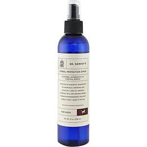 Dr. Harvey's Herbal Protection Dog Spray, 8-oz bottle; Dr. Harvey's Herbal Protection Spray will protect your dog against mosquitoes, ticks and fleas without the use of chemicals. Spray before and after going outside. It can also be sprayed on leashes,...