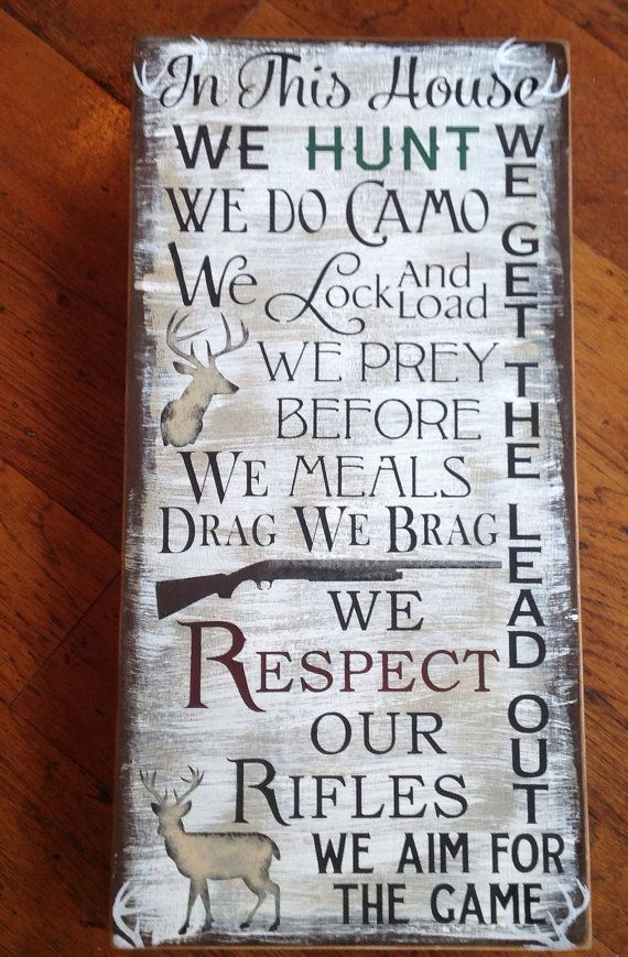 Hunting sign gone hunting  lodge decor cabin decor man by KerriArt www.kerriart.etsy.com