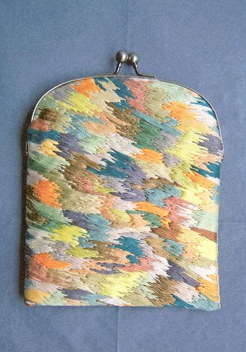 Tapestry purse.