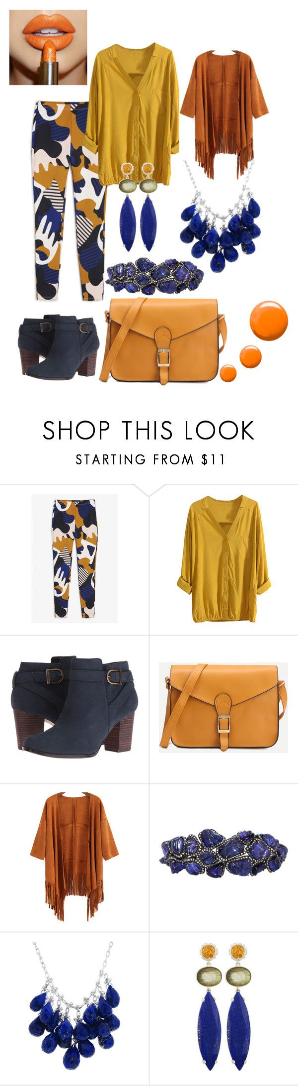 """""""autumn"""" by mcounce ❤ liked on Polyvore featuring Monki, Cole Haan, Arunashi, Ten Thousand Things, Stephen Dweck and Topshop"""