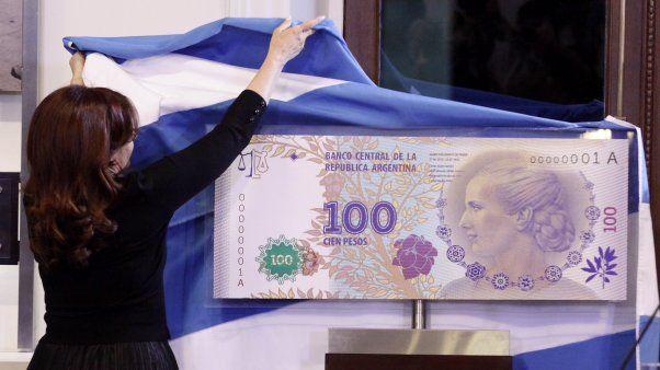 CASA DE LA MONEDA: El billete de cien pesos de Evita está entre los mejores del mundo